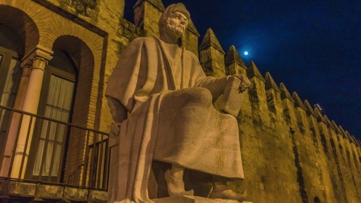Statue of Averroes in Cordoba, Spain